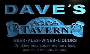 Enseigne Lumineuse px271-b Dave's Tavern Beer Mug Bar Pub Wine Neon Light Sign