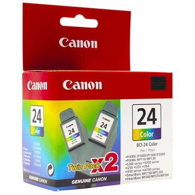 Canon Tintenpatrone BCI-24 C Doppelpack, mehrfarbig -