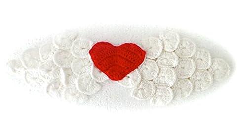 Réf382 BB.200 - Ailes d'Ange Coeur Bébé Enfant - Bonnet Culotte Noeud Papillon Lapin - Crochet Fait Main - Cadeaux Props Photos de Naissance