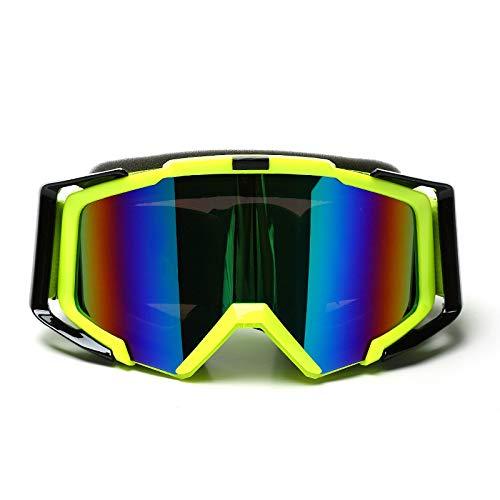 Yiph-Sunglass Sonnenbrillen Mode Frauen & Jugend - 100% UV-Schutz Radfahren Outdoor-Brille Skibrille - Überbrille Ski- / Snowboardbrille Für Männer, (Farbe : Green Black)