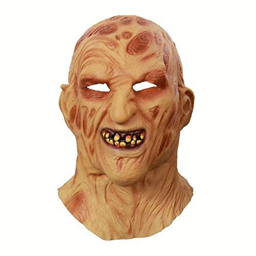 y Kostümsterminte Deluxe Freddy Krueger Maske Scary Halloween Carnival Cosplay Zombie Maske Cosplay Masken ()