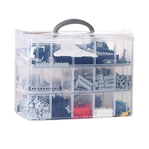 Spielzeug-speicher-organisator (Ntribut 3-Tier Aufbewahrungsbox, transparent mit Tragegriff, 30-Gitterbox Abnehmbare Speicher Organisator Für Spielzeug Desktop Schmuck Zubehör Schublade Oder Küche)