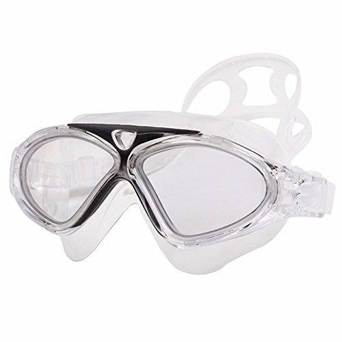 LXKMTYJ High-Definition Goggles Waterproof Anti-Fog Comfortable Face Mask Swimming Goggles Do Not Pressure Eye Swimming Glasses