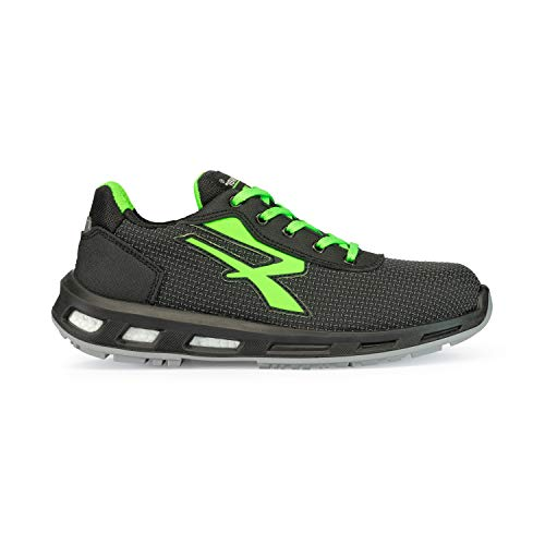 U POWER Strong S3 SRC, Scarpe Antinfortunistiche Unisex-Adulto, Verde (Vert 000), 43 EU