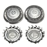 Electric Shaver Steel Head Blade Network Replacement for Philips - Pack of 3 Pieces
