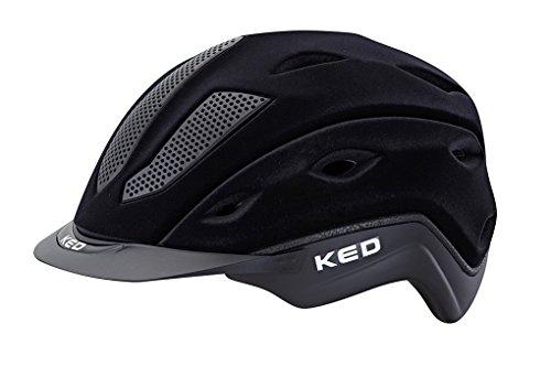 KED Casque d'équitation Xilon en velours noir Flock, Taille M = 54-57cm| Capuchon d'équitation
