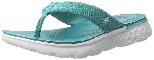 Skechers Damen On-the-Go 400-Vivacity Sandalen, Grün (Teal), 41 EU