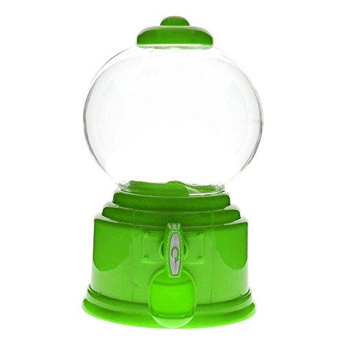 Green–Dispensador de golosinas máquina chicle cajas de almacenamiento de juguete