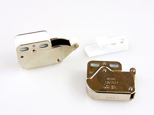 Preisvergleich Produktbild Gedotec Möbel-Schnäpper Schrank-Federschnäpper Schubladen Druckverschluß MINI-LATCH | Türschnapper Stahl vernickelt | verstärkte Ausführung inkl. Gegenstück | Möbelbeschläge | 5 Stück