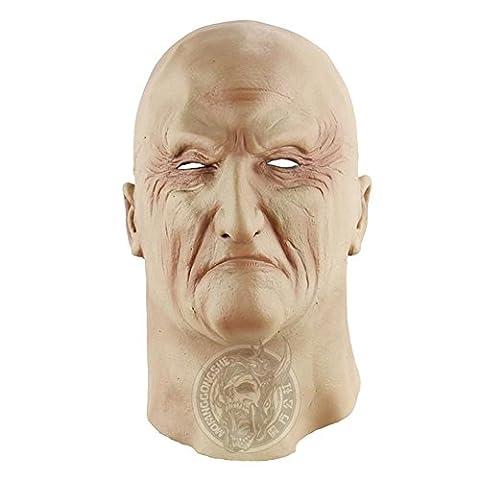 SQCOOL Halloween Maske Scary Horror Lustige Latex alle Sets von alten Mann Make-up Tanz Show (Alte Frau Kostüm Diy)