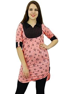 Phagun Mujeres Modelo étnico Top Rayón Kurti diseñador de la estrella vestido de la túnica