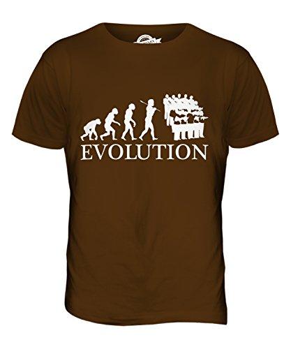 CandyMix Coro Evoluzione Umana T-Shirt da Uomo Maglietta Marrone