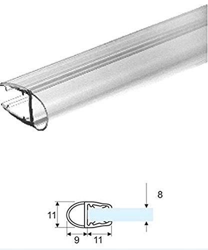 Guarnizione box doccia con aletta morbida da 23 mm per vetro 6 e 8 mm 2,20 mt