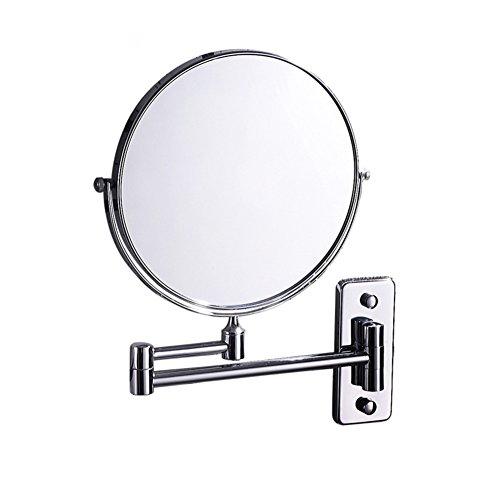 DW&HX Duplex Schwenkbar Ausfahrbare Badezimmerspiegel,3 x vergrößerung wall mount make-up kosmetikspiegel mit led-licht-A (Duplex-spa)