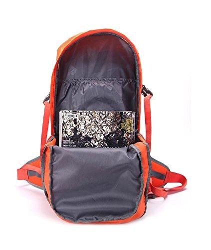 YYY-Un nuovo giorno in Nylon impermeabile multifunzionale escursionismo borsa viaggio durevole Camping 53 cm * 31cm * 22 cm 40L , orange Red