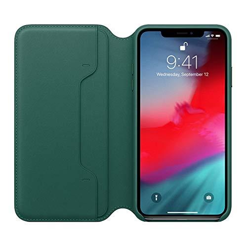 Preisvergleich Produktbild MMLC Für iPhone XR 6.1 inch Hülle Tasche Leder Case I Abnehmbare Cover I Ledertasche Kartenfach Standfunktion Echtleder Hülle Lederhülle Ledercase Handyhülle (Army Green)