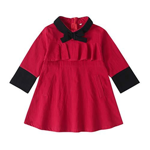 jerferr Mädchen Set Kinderbekleidung Strickjacke Langarm Baby Warmer Mantel Knopf Mantel (Leder Jacke Teddy Bär)
