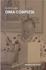 Obra completa par Ramón Gaya
