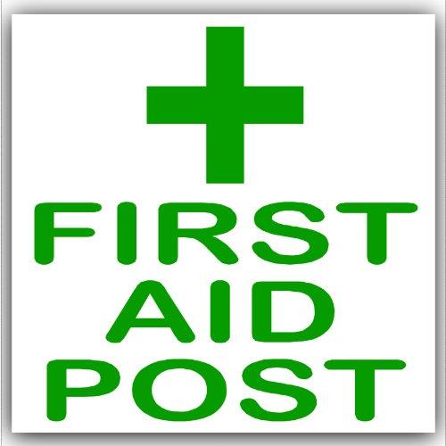 Preisvergleich Produktbild 1 x Erste Hilfe post-green auf weiß,  externe selbstklebend stickers-medical,  Gesundheit und Sicherheit Schilder,  Alert,  Warnung,  individuell,  Pinnwand,  Heal