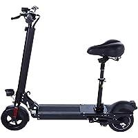 OOBY Mini Plegable Scooter Eléctrico De Litio Pequeño Simple Adulto Bicicleta Eléctrica-Negro.