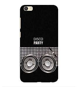 HiFi Designer Phone Back Case Cover Vivo Y55 :: Vivo Y55L ( Disco Party Music Speaker Logo )