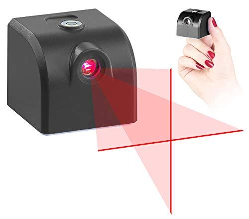 AGT Laser Wasserwaage: Mini-Kreuzlinienlaser mit Wasserwaage, Akku und USB-Stromversorgung (Kreuzlaser)