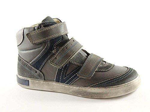 PRIMIGI 21491 36/40 bébés chaussures gris espadrille milieu déchirure sport Grigio