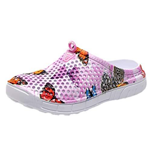 Sabots Femmes Chaussure de Jardin Pantoufle Plage Sandales Clogs Motif de Papillon Chaussures Aquatiques