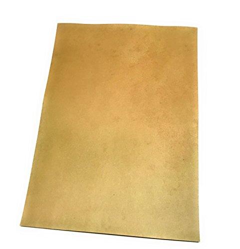 Decooo.be fogli a effetto invecchiato - per laurea, pergamena, carta di tesoro. - set di 24 fogli vuoti - effetto jauni fronte/retro - formato a4 - grammatura 90 g