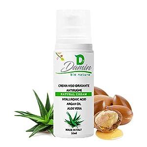 Damin Bio Nature – Crema Facial ANTIARRUGAS 100% Natural Con Àcido Hialurónico y Aloe Vera HIDRATANTE Antiedad Hombre…