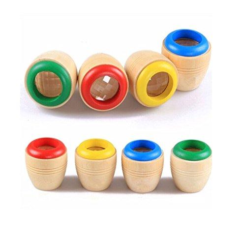 Holz Kaleidoskop / Glas Kosmos Prisma - Optisches Kinder Spielzeug Mitgebsel für Geburtstag Piraten Spiele (Grün)