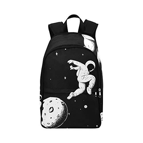 Astronauten Nehmen Sie Bilder Auf Der Halbmond Lässige Daypack Reisetasche College School Rucksack Für Männer Und (Astronaut Kostüm Rucksack)