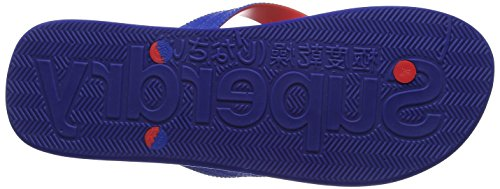 Superdry Herren Printed Cork Zehentrenner Multicolore (Nautical Blue/Bright Red)