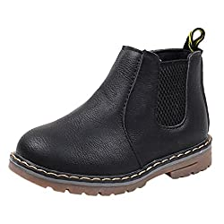 For 1-6 Years Old Kids , Sunnymi® Fashion Toddler Infant Newborn Boys Girls Boys Girls Martin Sneaker Boots Kids Baby Casual Shoes (Uk 5 Eu 21, Black)