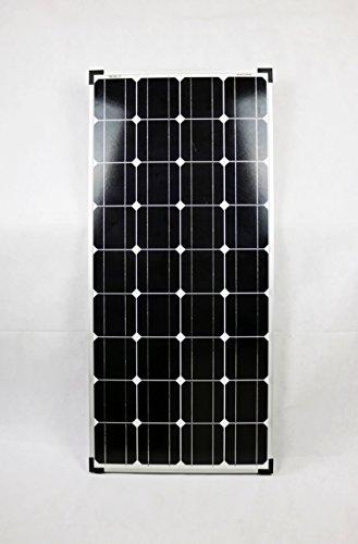 100 Watt Solarmodul 12V Monokristallin inkl. MC4 Solarstecker - Solarpanel Solarzelle 100W