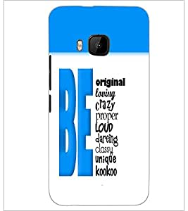 PrintDhaba Quote D-5741 Back Case Cover for HTC ONE M9S (Multi-Coloured)