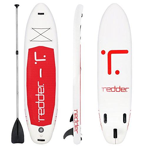 REDDER Paddle Board SUP kit di lama regolabile gonfiabile + pompa tavolo + filling + kit di riparazione + viaggio zaino ,dimensione di 305x76x15 cm