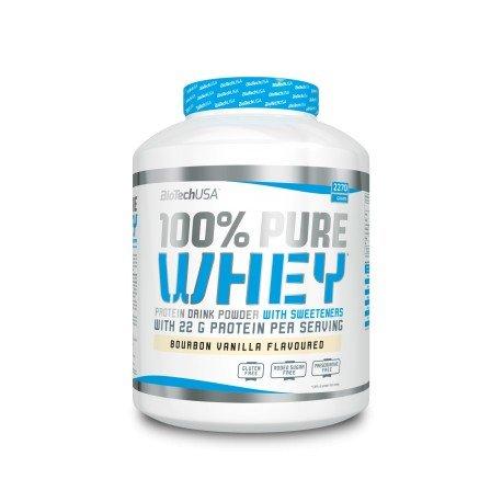 BiotechUSA 100% Pure Whey 2270 g Protein Pulver Bourbon-Vanille