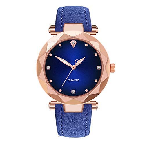 Orologio da polso analogico al quarzo di Lyperkin, orologio da polso analogico di lusso con cinturino in pelle con quadrante casuale per uomo e donna N-04