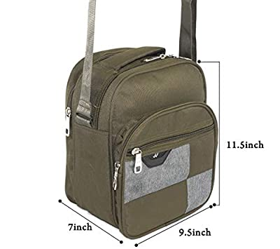 DAHSHA Men and Women Multipurpose Matty Olive Cross body Messenger Shoulder Bag