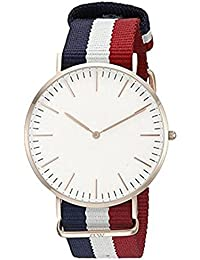 Fashion Now Latest Designer Analogue White Dial Men's Watch - Dw_Blue,Red,White
