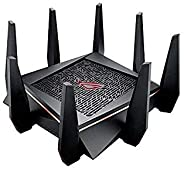 Asus ROG Rapture GT-AC5300 Tri-Band WiFi Gaming Router (Black) for VR and 4K Streaming, with Quad core Process