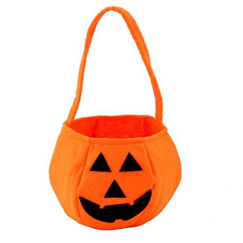 LAAT Halloween Kürbis Tasche Kinder Mini Süßigkeiten Tote Kinder Geschenke Süßigkeiten Taschen Handtaschen für Kinder oder Kostüm (Kürbis Tasche)