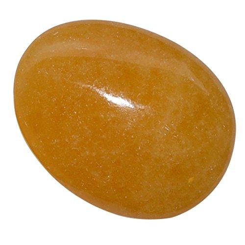 Calcit orange XL Handschmeichler flacher Trommelstein aus Mexiko tiefe orange Farbe.(3893)