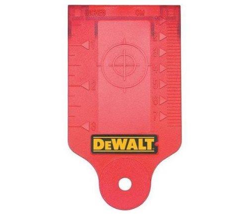 Dewalt Laser Zielkarte (rot, mit Magnethalterung zur leichten Befestigung an Unterkonstruktionen aus Metall) DE0730