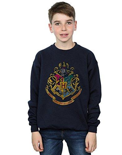Harry Potter Jungen Hogwarts Distressed Crest Sweatshirt 9-11 Years Marine (Pullover Hogwarts)