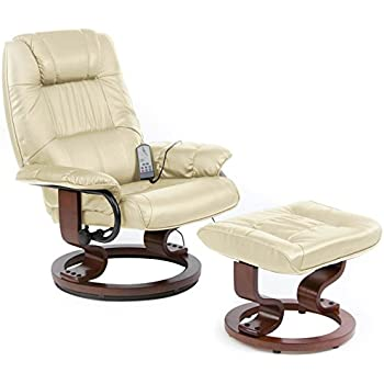 Restwell napoli swivel recliner cream leather effect massage chair with round base footstool  sc 1 st  Amazon UK & Restwell napoli swivel recliner cream leather effect massage chair ... islam-shia.org