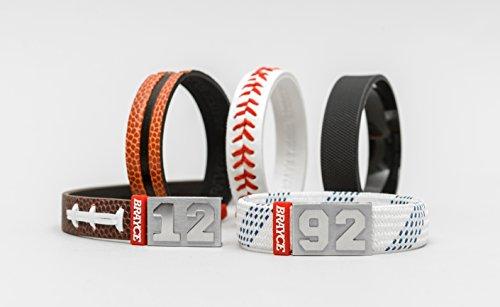 BRAYCE® Ballsport-Armband mit Deiner Nummer 00-99 (Trikotnummer, Spielernummer, Glückszahl): Der Schmuck für Eishockey, Basketball, Football & Baseball (unisex)