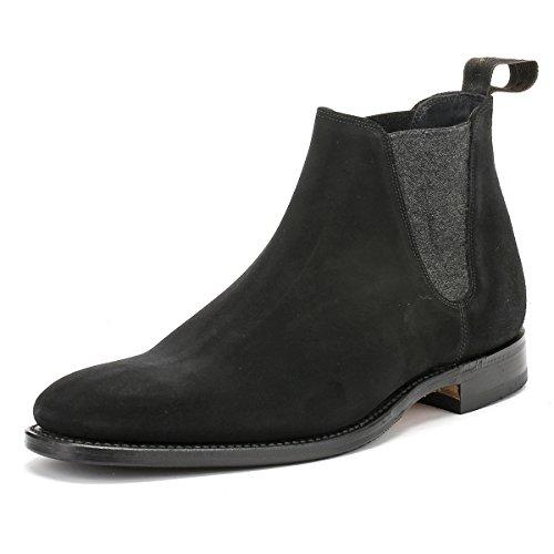 loake-hombres-negro-ante-cuero-caine-botas-uk-8