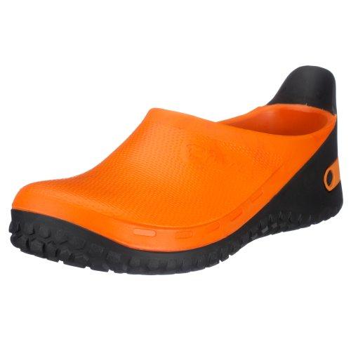 Birki ACTIVE BIRKI AS 68351 Unisex-Erwachsene Clogs & Pantoletten, Orange (ORANGE-SOHLE SCHWARZ), EU 44 (Birkis Schwarz Clogs)